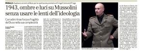 Recensione Giornale di Vicenza Gran Consiglio (Mussolini)